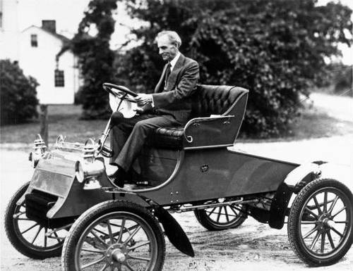 Henry Ford in a Model A Ford