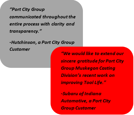 Pace Industries Port City Group Quotes