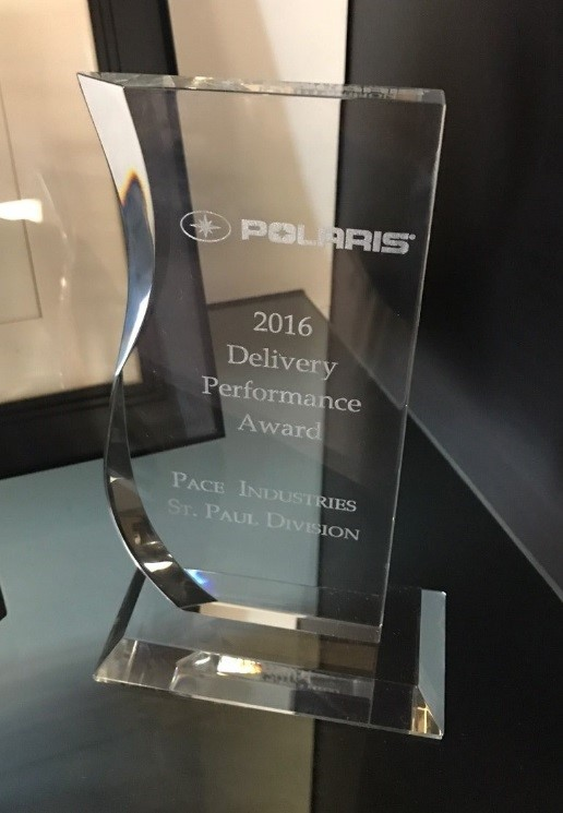 Polaris 2016 Delivery Performance Award